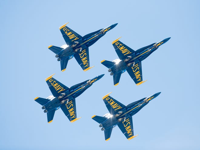 The U.S. Navy Blue Angels return to Pensacola Beach for a Red, White and Blues Week.