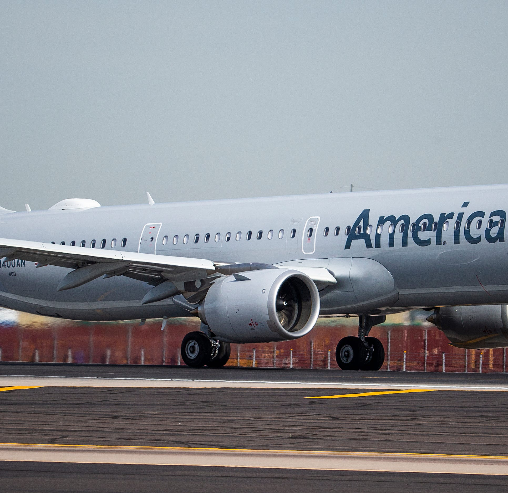 American Airlines' newest jet, the Airbus 321neo, takes off from Phoenix