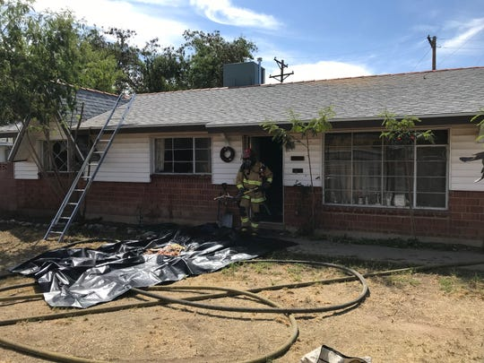 The woman's home near 43rd and Glendale avenues caught fire at around 10 a.m. Tuesday, April 2, 2019.