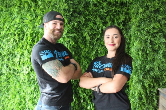 Owner Chase Brendle and manager Brittany Mirelez at Lacuna Kava Bar in downtown Phoenix.