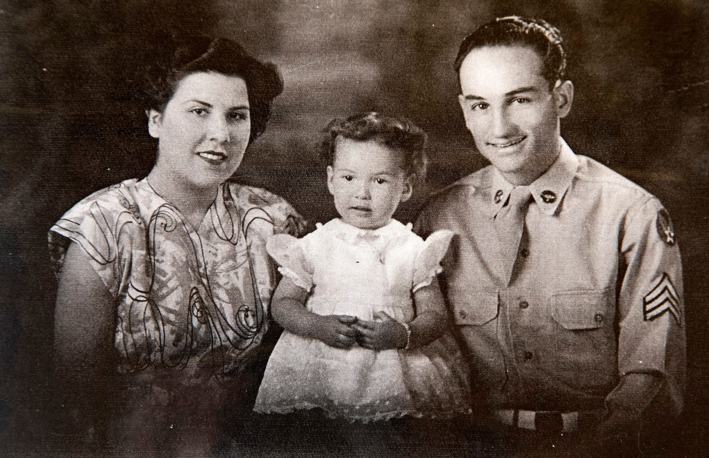 A portrait of the Campos family (from left) Jovita, Jennie and Joe in the late 1940s in Miami, Ariz. It is believed that Staff Sgt. Joe Campos, a gunner on a B-26 bomber was likely the first American killed in the Korean War when his plane went down in the Yellow Sea on June 28, 1950.