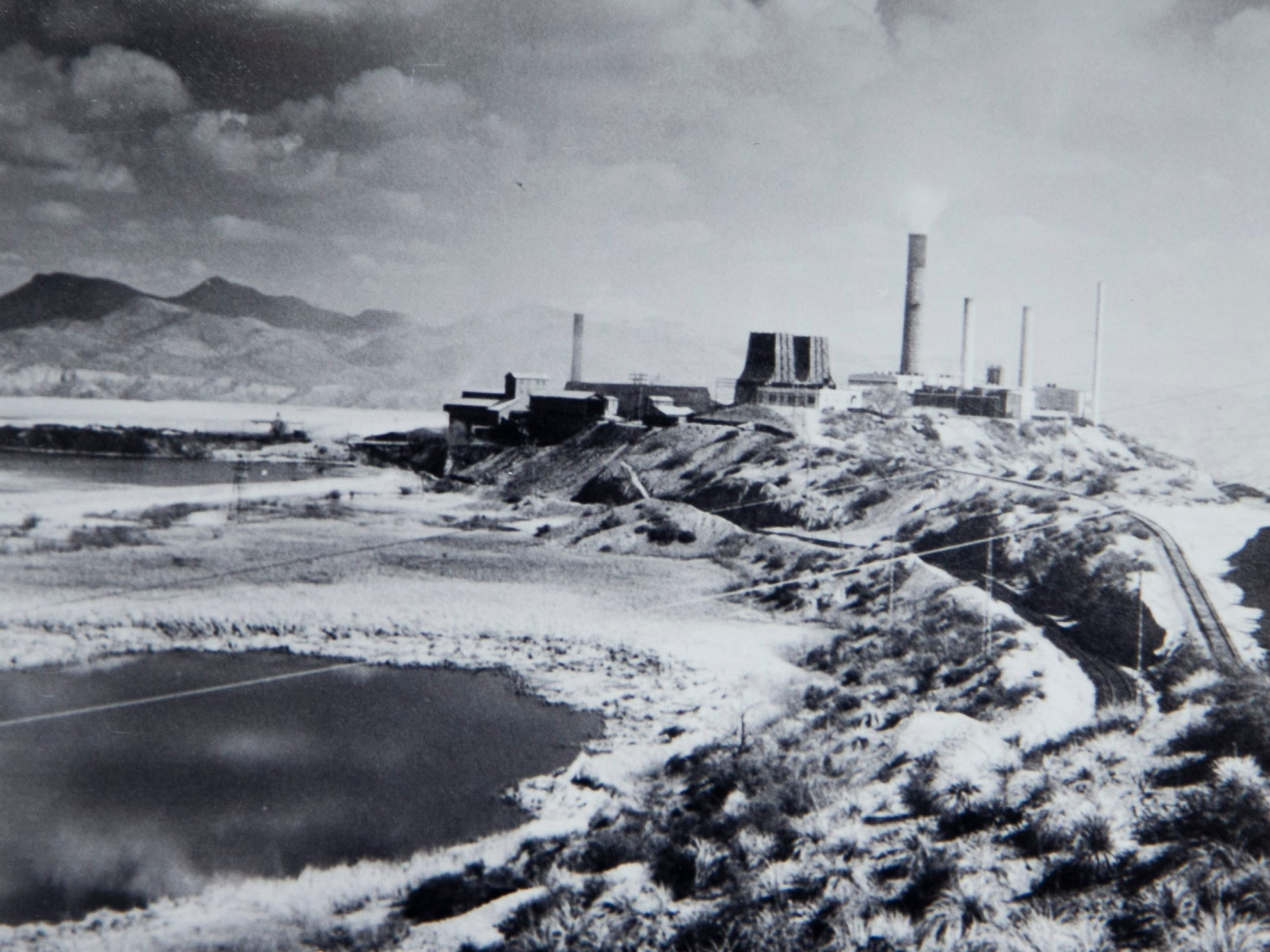 An undated photo of the Inspiration Consolidated Copper Company mine in the Miami/Claypool area. Joe Campos worked at this mine in the late 1940s and experienced racism because of his Mexican-American heritage. After working in the mine for several years, he re-enlisted in the military. It is believed that Staff Sgt. Joe Campos, a gunner on a B-26 bomber, was likely the first American killed in the Korean War when his plane went down in the Yellow Sea on June 28, 1950.