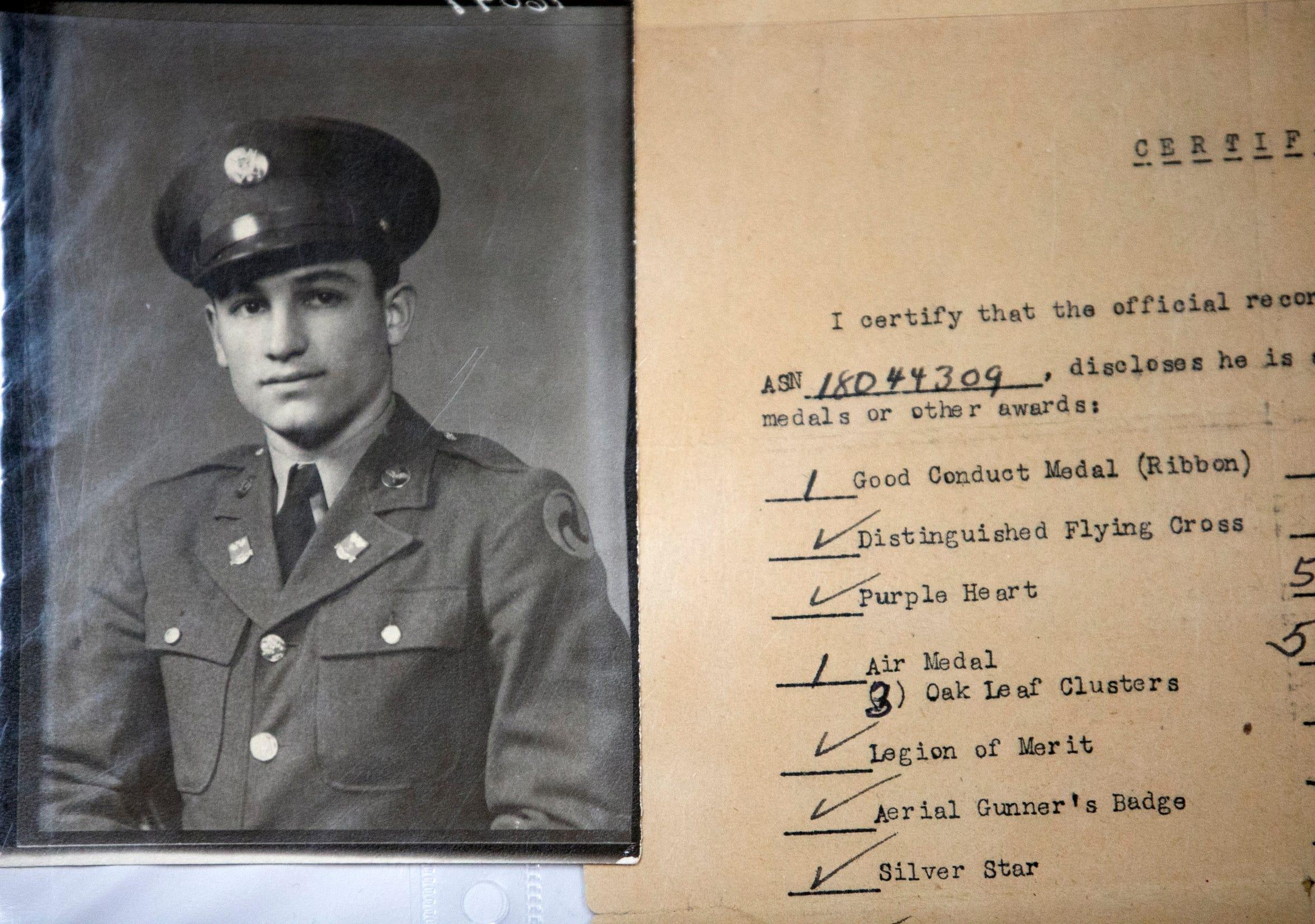 Retrato de Joe Campos, quien sirvió para EEUU en la Segunda Guerra Mundial.