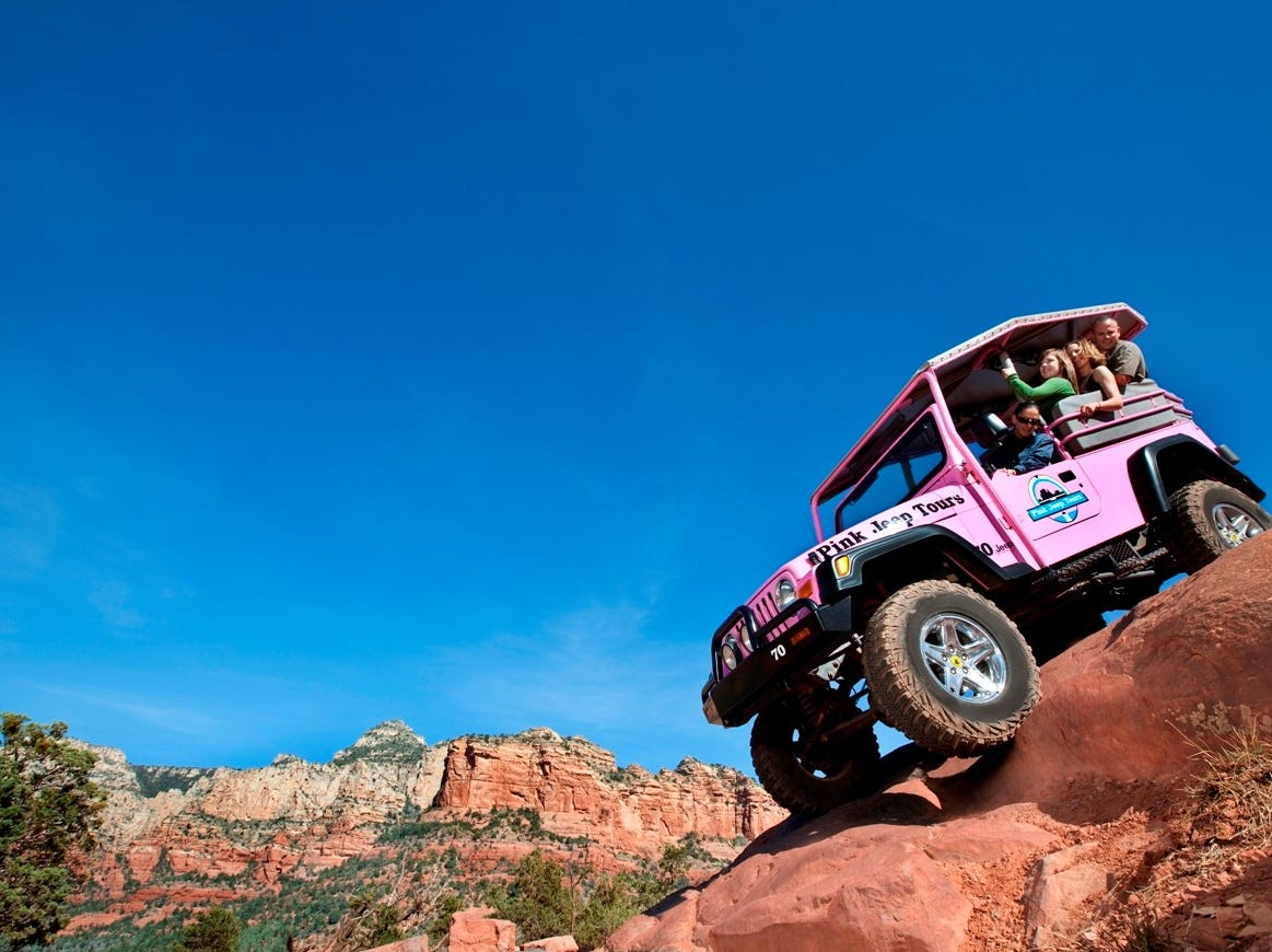 Several companies offer jeep tours into Sedona's rugged areas.