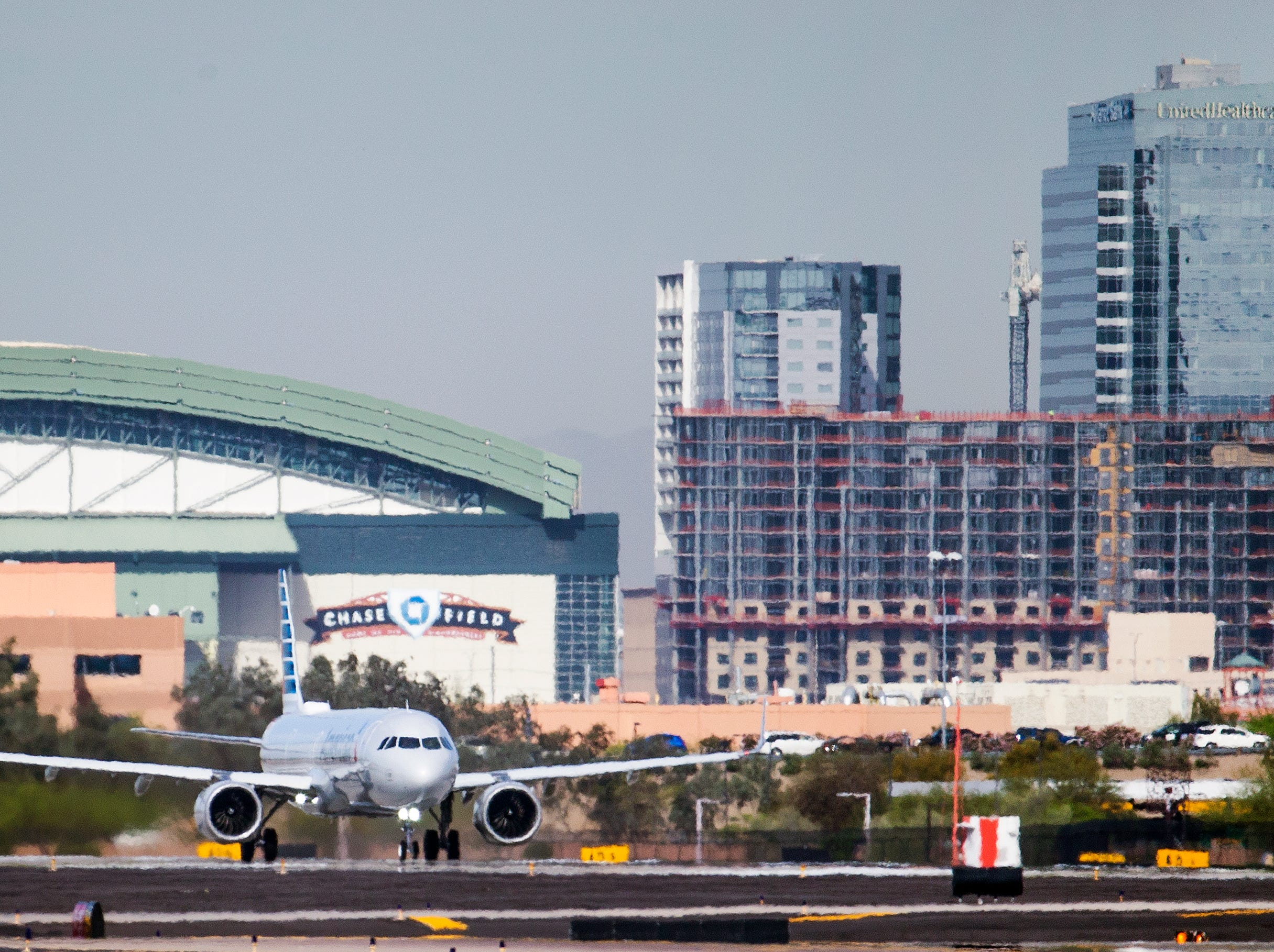 The first flight, from Phoenix Sky Harbor International Airport to Orlando, Florida, starts it's take off roll on April 2, 2019.