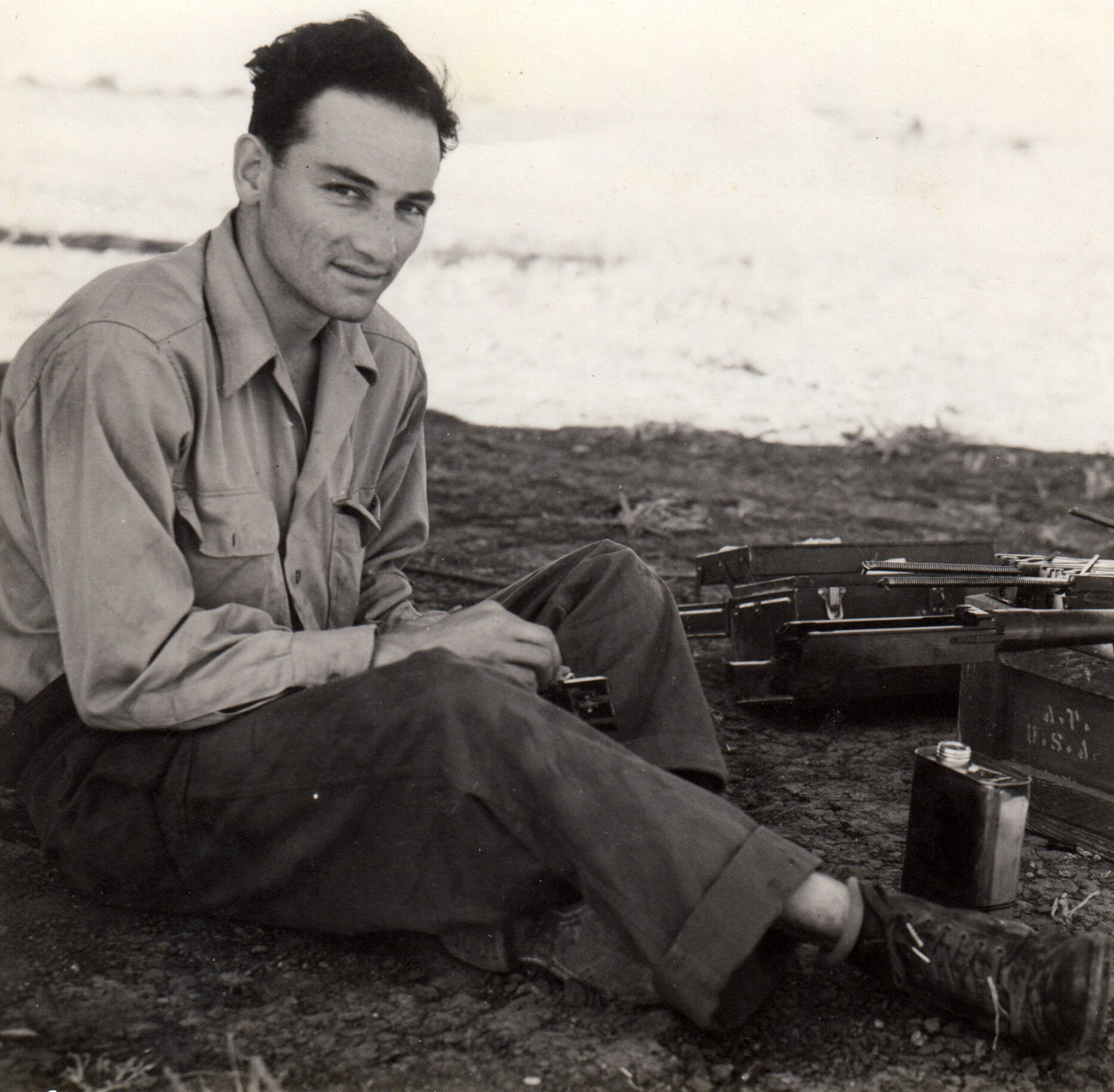 Airman Joe Campos of the U.S. Army/Air Force in Europe during World War II.