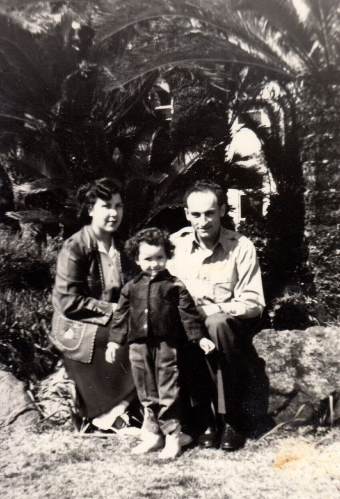 The Campos family (from left): Jovita, Jennie, and Joe at the Atami Hotel in Japan in December of 1949, while Joe was stationed in Japan before the start of the Korean War.