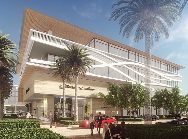 A rendering of high-end offices planned in Scottsdale at Palmeraie