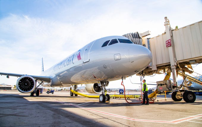 American Airlines' newest jet, the Airbus A321neo, debuts in