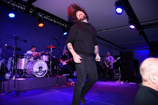 Taking Back Sunday performs at the Lexus Pop Up Concert Series at iPlay America on November 16, 2016 in Freehold, New Jersey.  (Photo by Dave Kotinsky/Getty Images for Pandora)