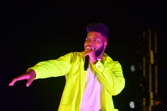 Khalid performs for his Spotify fans on March 26, 2019 in Los Angeles, California.