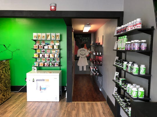 Inside Body Science Supplements, which sells vitamins, healthy food alternatives and other specialty dietary items in downtown Lebanon.