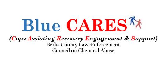 Logo for the Blue CARES program in Berks County.