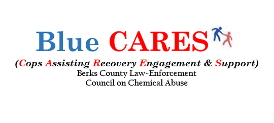 Logo for the Blue CARES program in Berks County.