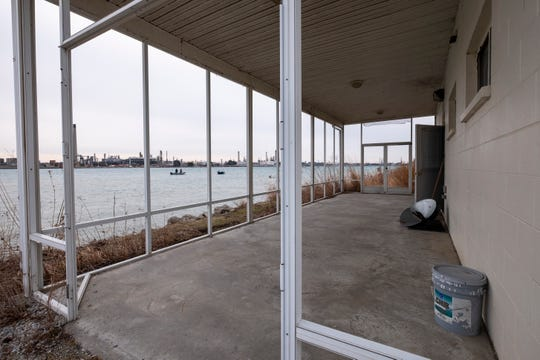 Fishing boats can be seen off the back porch of the Friends of the St. Clair River office in Port Huron. The glass and screens had to be removed from the porch due to vandalism, but the organization hopes to create a secure, enclosed space that can be used for programming.