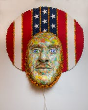 Suprina exhibits her wall-hung sculpture at Gallery 330.