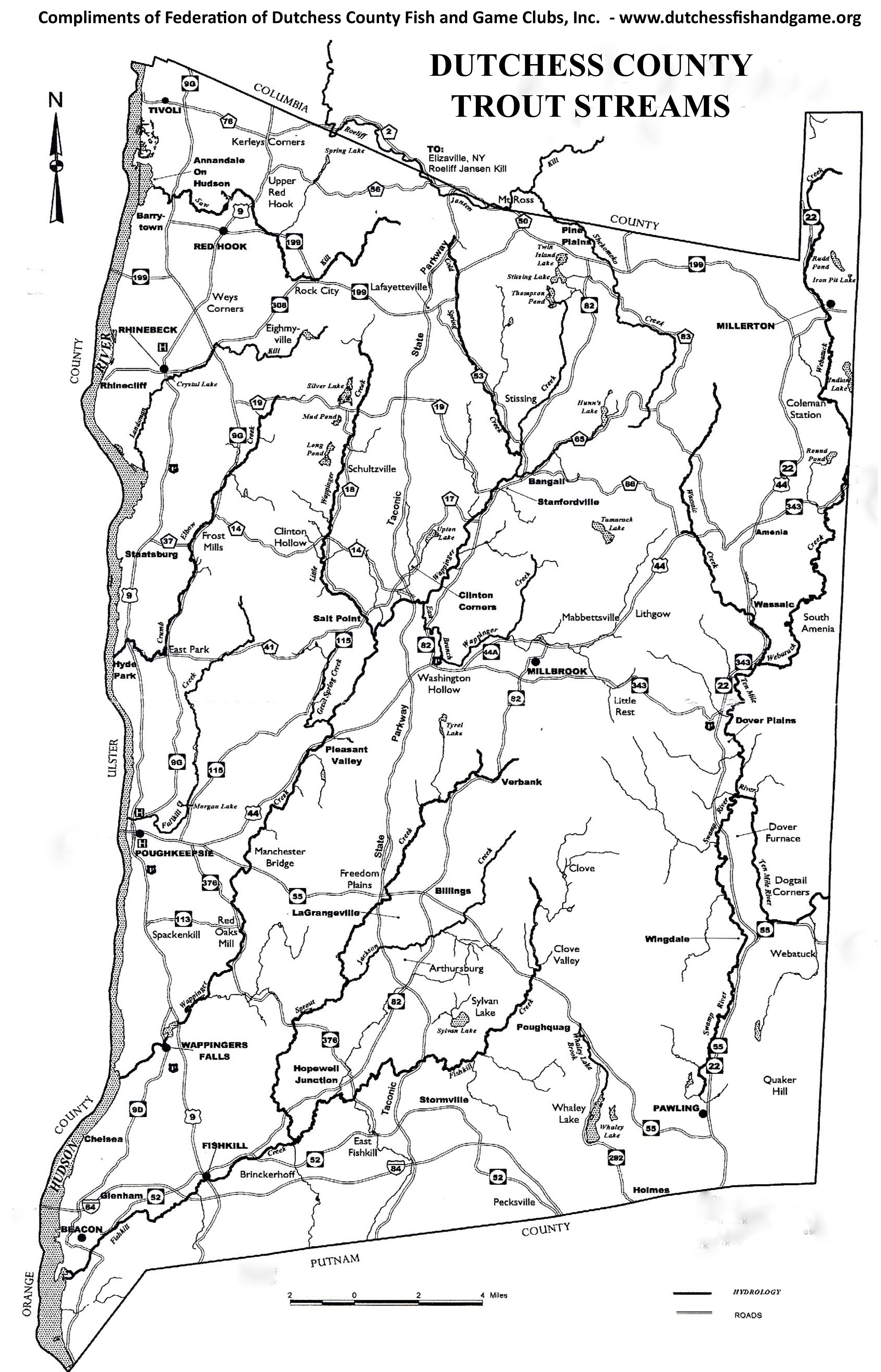 The Dutchess County stream map.