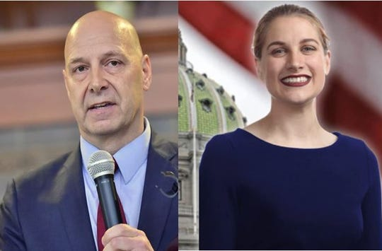 Republican Doug Mastriano and Democrat Sarah Hammond are the candidates for 33rd Senatorial District in a special election May 21.