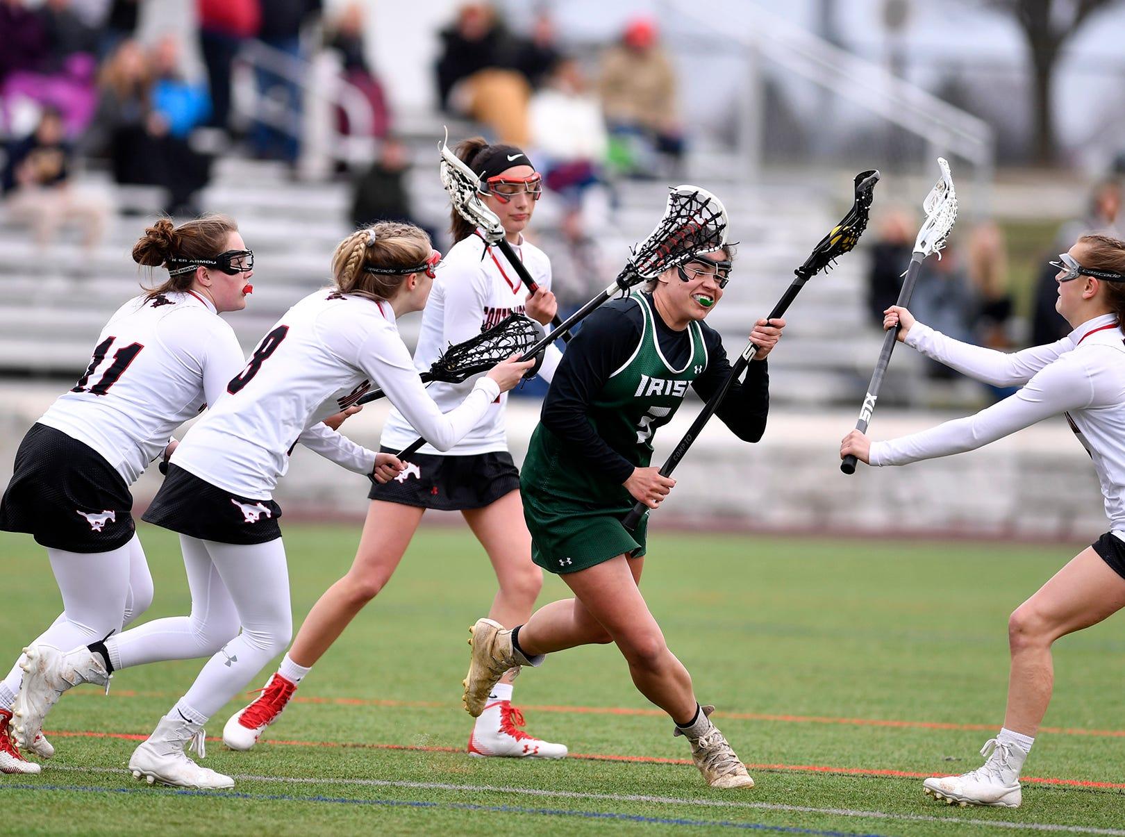York Catholic at South Western girls' lacrosse, Tuesday, April 2, 2019.John A. Pavoncello photo