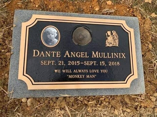 Dante Mullinix, 2, died at Penn State Hershey Medical Center on Sept. 16, 2018. Following more than six months, there's now a marker for his grave in Mount Rose Cemetery in Spring Garden Township. (The date of death on the sign references the day he was taken off life support.)