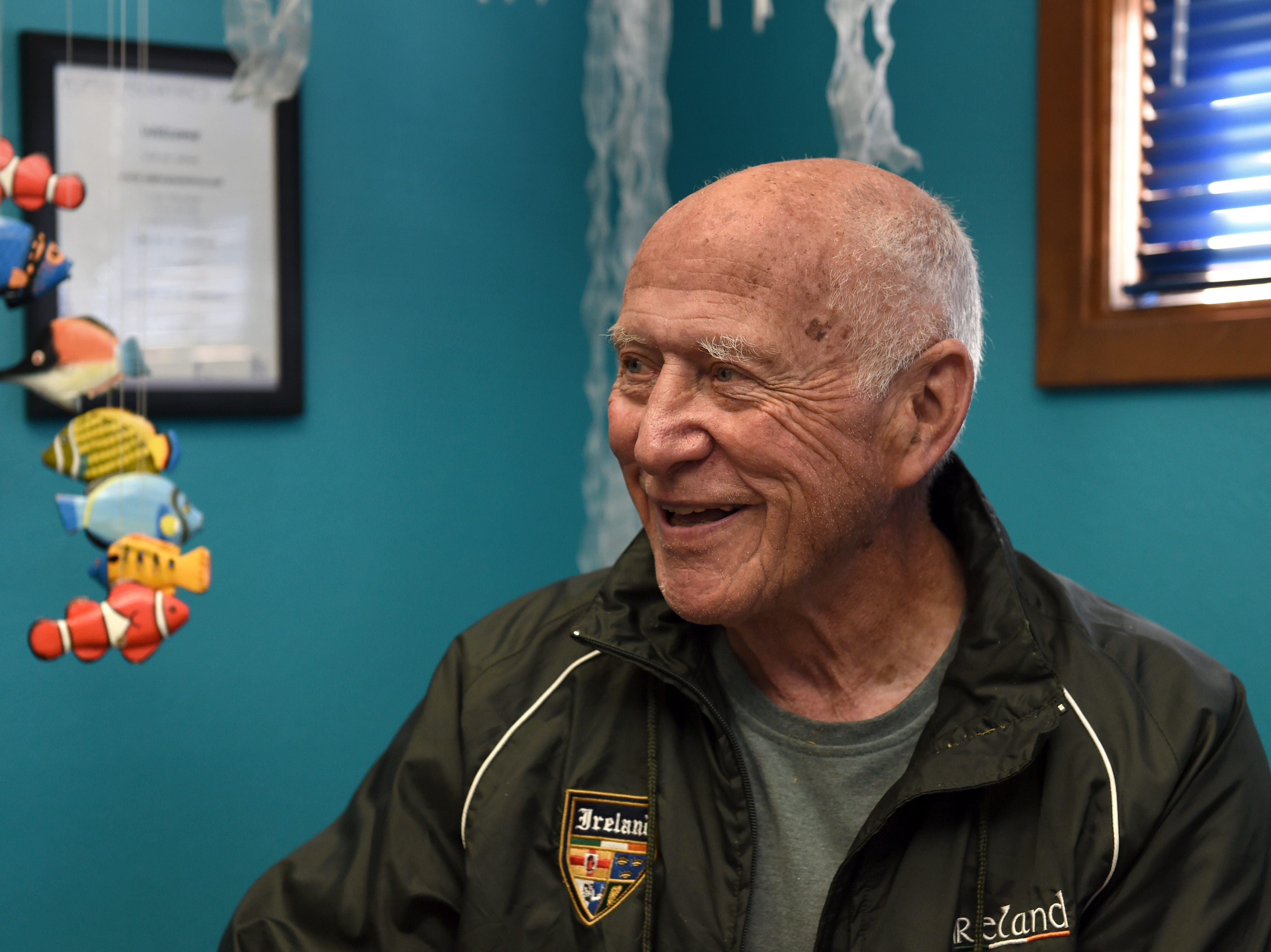 Dr. Patrick Colletti Smiles as he talks about his 50-year career as a pediatrician in Reno.
