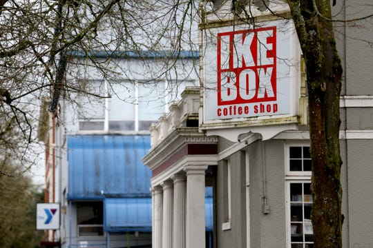 IKE Box in downtown Salem on April 2, 2019. The coffee shop is scheduled to be demolished in August to make way for new YMCA construction unless funds can be raised to relocate the building.