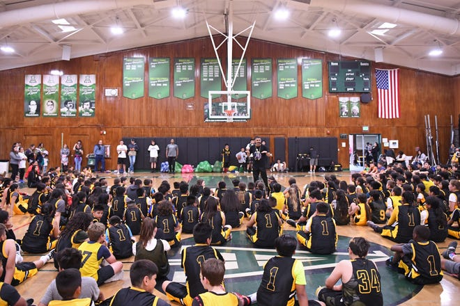 This year, the Gil Basketball Academy has grown in numbers to nearly 400, according to Administrative Assistant Susie Gonzalez.
