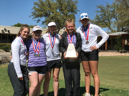 The Sterling City girls golf team finished second in the team standings of the District 11-1A girls golf tournament in 2019.