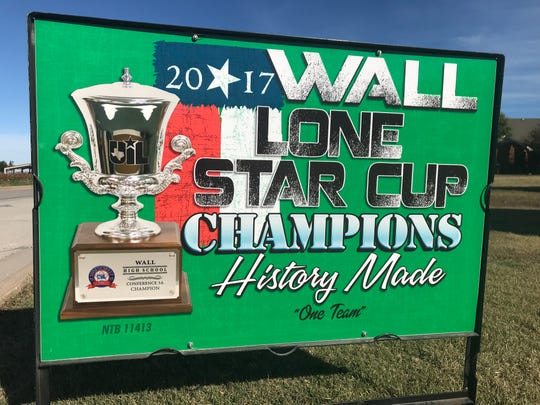 Wall High School won the 2017 Lone Star Cup, an award handed out by the University Scholastic League to honor athletic and academic achievement. It was Wall's first win. The school has finished second four other times in the history of the award, which was begun in the 1997-98 school year.