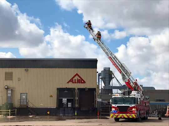 Sioux Falls Fire Rescue responded to a fire around 2:15 p.m. Tuesday on the 3800 block of North Fourth Avenue at Allied Building Products.