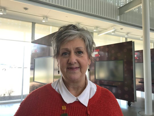 Julie Wright voted at the central polling location on the MSU campus.