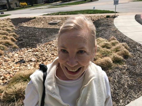 Judith Garson voted at Schweitzer Brentwood Branch Library.