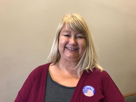 Carol Oliver voted at the East Sunshine Church of Christ Tuesday.