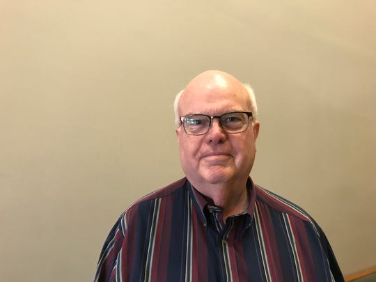 Jim Anderson voted at the East Sunshine Church of Christ on Tuesday.