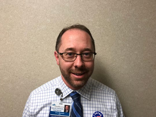 Eric Maxwell voted at Cox South Hospital.