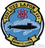 The USS Lapon was a nuclear-powered submarine that played a major role in tracking Soviet submarines during the Cold War.  The sail of the submarine is on display as a memorial at American Legion Post 639, 2660 S. Scenic Ave.