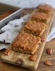 Georgia Cornbread Cake is like a pecan coffee cake and contains no corn meal.