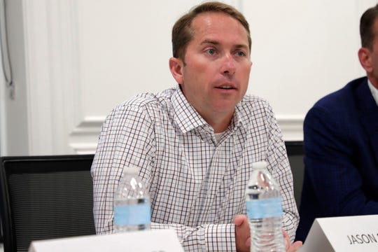 Florida House District Seven candidate Jason Shoaf answers questions from the Tallahassee Democrat Editorial Board Tuesday, April 2, 2019.