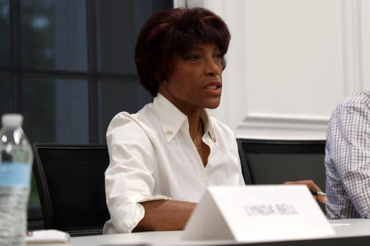 Florida House District Seven candidate Virginia Fuller answers questions from the Tallahassee Democrat Editorial Board Tuesday, April 2, 2019.
