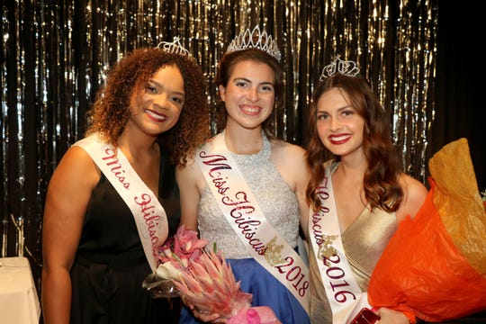 Miss Hibiscus 2017 Gabi McFall, left, with Miss Hibiscus 2018 Katie Toperzer and Miss Hibiscus 2016 Melanie Coppola.