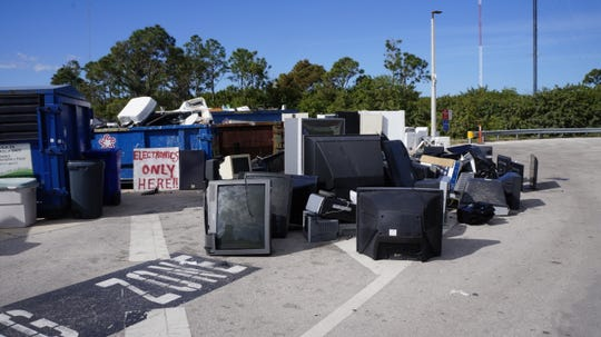 Electronics can be left at the landfill.