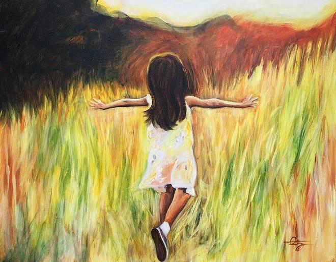 """Joy"" by Pamela Schwartz, an artist who also teaches third grade at Imagine South Vero."