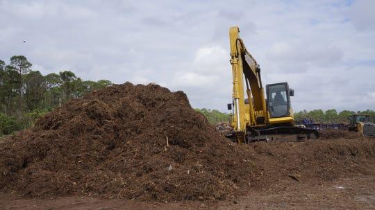Yard debris becomes mulch.