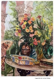 """Loggia Still Life"" by Paul Williams, who took up watercolor painting classes at the Vero Beach Museum of Art upon retiring here in 1997."