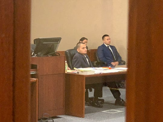 Former Fort Bliss soldier Joe Antony Cabral sits in the 409th District Court Tuesday. Cabral is facing one count of murder in connection with the death of Zachary S. McGuire.