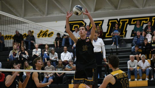 Senior setter Luke Magnante has helped Newbury Park remain unbeaten in the Marmonte League.