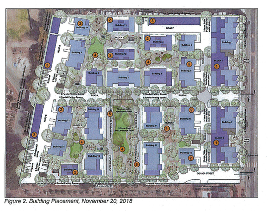 Proposed plans for 2055 N. Ventura Ave. in west Ventura. The Design Review Committee approved the plan, which includes parking lifts.