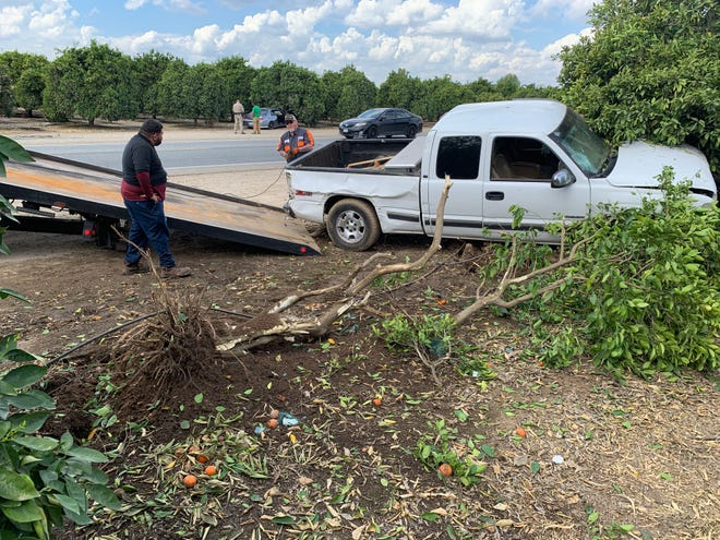 California Highway Patrol officers are investigating a two-vehicle collision in Exeter.