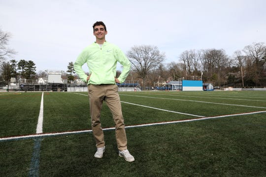 Senior Matthew Rizzo, the Westchester/Putnam boys winter track athlete of the year, at Bronville High School April 2, 2019.