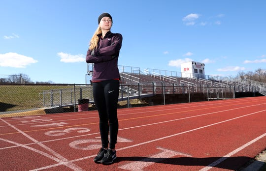 Junior Katelyn Tuohy, the Rockland girls winter track athlete of the year, at North Rockland High School April 1, 2019 in Thiells.